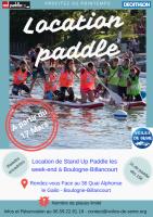 Ouverture location de Paddle